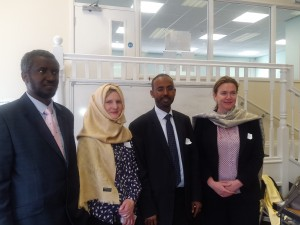 ms Mathews and Ms Claudia with Somali community in Leicester 11th May 2015 at St.Mathews Neighbourhood centre