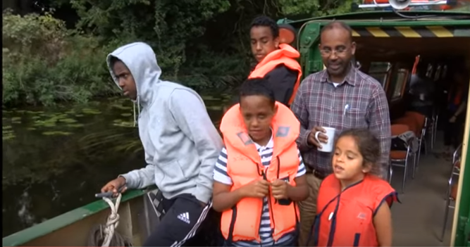 Boat trip for Somali Families exploring river soar waterway  in Leicester